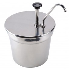 Stainless Steel Condiment Pump with 7 Qt. Inset #407CPD07KIT