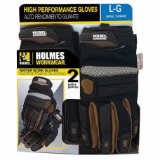 Holmes® Workwear Winter Performance Gloves, 2-pack, Size M