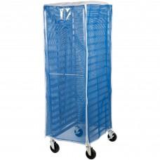 "Curtron® Blue Supro Breathable Mesh Bun / Sheet Pan Rack Cover - 23"" x 28"" x 62"" #SUPRO-BM-BLUE"