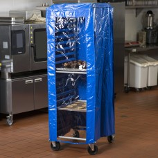 "Regency Blue 12 Mil Plastic Bun Pan Rack Cover, 63""x 28""x 24"""