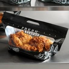 """InnoPak Large """"Fresh Flavor"""" 12 Piece Fried Chicken Hot Food Bag 17x7.5+7""""- 250/Case #4067083"""