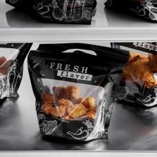 "InnoPak Small ""Fresh Flavor"" 4 Piece Fried Chicken Hot Food Bag 9""x6.5""+5""- 250/Case #4063382"