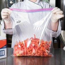 """Ziploc® Two Gallon Storage Bag with Double Zipper and Write-On Label, 13"""" x 15""""  - 100/Case #682253"""