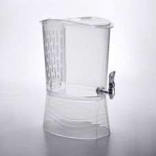 Choice Slim Acrylic Beverage Dispenser w.Infusion Chamber, 3 Gallon #176ACB3INFSL