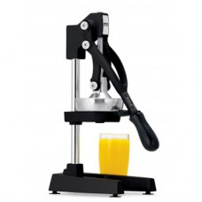 """Focus® 31"""" Juicer - Manual, Lever Action, 3 Pinion Design, Perforated Strainer, Black  #97306"""