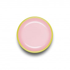 Bornn Colorama Small Plate Soft Pink with Chartreuse Rim, 18cm #CRPL1804