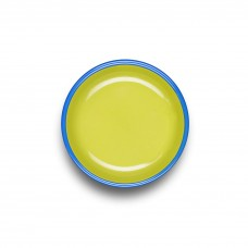 Bornn Colorama Small Plate Chartreuse with Electric Blue Rim, 18cm #CRPL1802