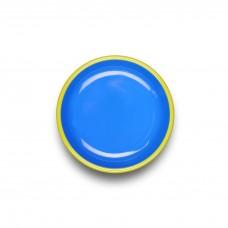 Bornn Colorama Small Plate Electric Blue with Chartreuse Rim, 18cm #CRPL1801