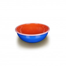 Bornn Colorama Bowl Electric Blue and Coral with Soft Pink Rim, 24oz\700ml\20cm #CRBW2003