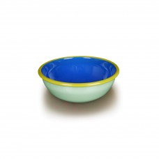Bornn Colorama Bowl Mint and Electric Blue with Chartreuse Rim, 24oz\700ml\20cm #CRBW2002