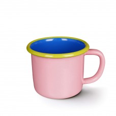 Bornn Colorama Large Mug Soft Pink and Electric Blue with Chartreuse Rim, 300ml #CRMG0904