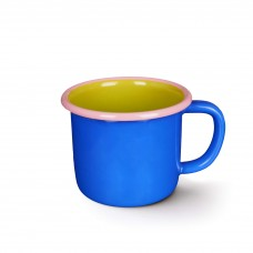 Bornn Colorama Large Mug Electric Blue and Chartreuse with Soft Pink Rim, 300ml #CRMG0901