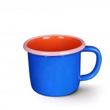 Bornn Colorama Large Mug Electric Blue and Coral with Soft Pink Rim, 300ml #CRMG0903