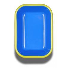 Bornn Colorama Small Baking Dish Electric Blue\Chartreuse Rim, 16x11x4cm #CRRP1601