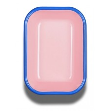 Bornn Colorama Small Baking Dish Soft Pink with Electric Blue Rim, 16x11x4cm #CRRP1604