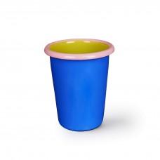 Bornn Colorama Tumbler Electric Blue, Chartreuse w\Soft Pink Rim, 250ml #CRTM1001