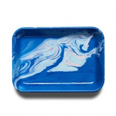 Bornn New Marble Rectangular Tray 26x18x2cm Cobalt #MART2607