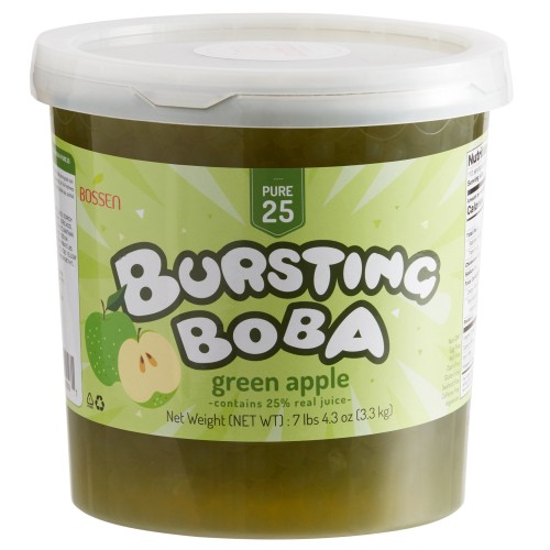 Bossen® Pure25 Green Apple Bursting Boba® 7.26 lb. #020588