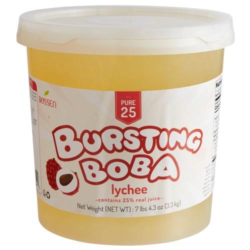 Bossen® Pure25 Lychee Bursting Boba® 7.26 lb. #020397