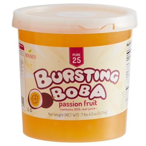 Bossen® Pure25 Passion Fruit Bursting Boba® 7.26 lb. #020427