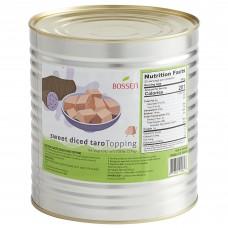 Bossen® Sweet Diced Taro Topping, can #10, 7.28 lb.\3,3kg\ #020625
