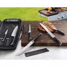 Cangshan® S Series German Steel Forged 7-Piece BBQ Knife Set, Black #1504233