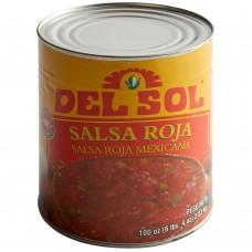 Del Sol Red Mexican Salsa, #10 Can, 100oz