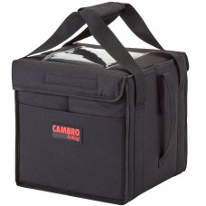 """Cambro Customizable Insulated Black Small Folding Delivery GoBag™ - 10"""" x 10"""" x 11"""" #GBD101011110"""