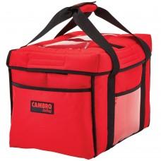 "Cambro Customizable Insulated Black Sandwich GoBag™ - 15"" x 12"" x 12"" #GBD151212521"