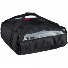 """Cambro Customizable Insulated Black Pizza Delivery GoBag™  17 1/2"""" x 20"""" x 7 1/2"""" #GBP318110"""