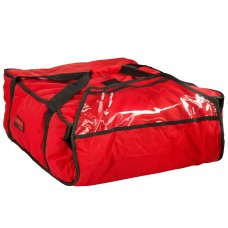 """Cambro Customizable Insulated Red Pizza Delivery GoBag™  17 1/2"""" x 20"""" x 7 1/2"""" #GBP318521"""