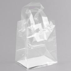 "Polypropylene Soft Loop Handle Bag with Insert 16 3/4"" x 4 3/4"" x 8 1/2""  - 200/Case #023232"