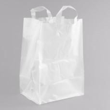 "Polypropylene Soft Loop Handle Bag with Insert 12"" x 9"" x 17""  - 250/Case #051921"