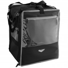 """Vollrath 3-Series Black Insulated Nylon Tower Bag with Wire Insert 18"""" x 17"""" x 22"""" #VTBW300"""