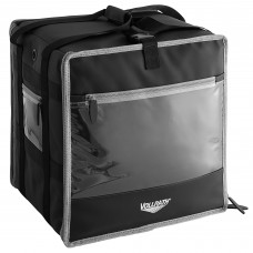 """Vollrath 3-Series Black Insulated Nylon Food Delivery Backpack with Integrated Frame 16"""" x 16"""" x 13"""" #VDBBM300"""