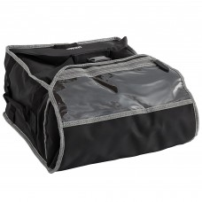 """Vollrath 3-Series Black Insulated Pizza Delivery Bag 17 1/2"""" x 17 1/2"""" x 9"""" #VPB316"""