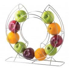 """Tablecraft Circular Fruit Basket 15.75"""" - Chrome item# FO1515"""