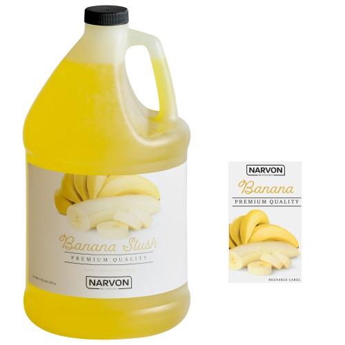 Narvon Banana Slushy Syrup, 1 Gallon