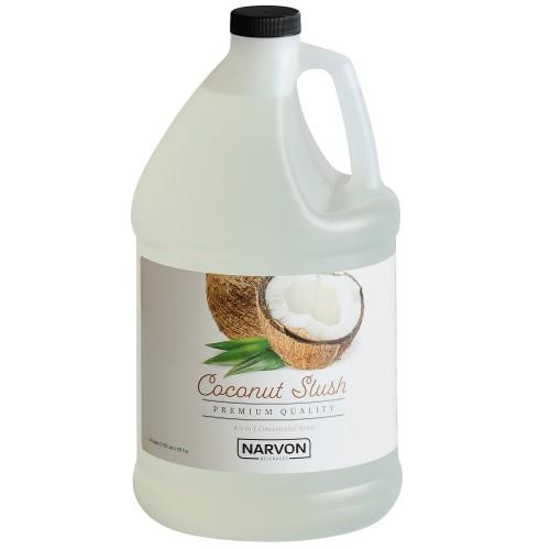Narvon Coconut Slushy Syrup, 1 Gallon