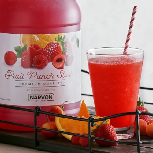 Narvon Fruit Punch Slushy Syrup, 1 Gallon