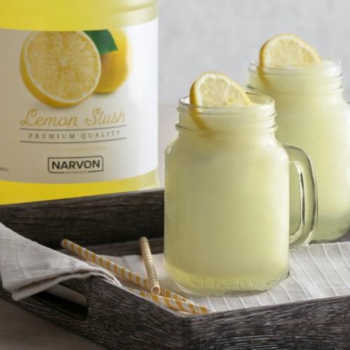 Narvon Lemon Slushy Syrup, 1 Gallon