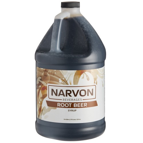 Narvon Old Fashioned Root Beer Beverage Syrup, 1 Gallon