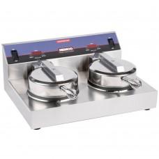 Nemco 7000A-2S240 SilverStone Non-Stick Dual Waffle Maker - 240V