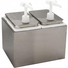 Carlisle Condiment Dispenser Rail w\2 Standard Pumps, 5qt #38502
