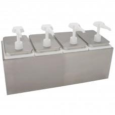 Carlisle Condiment Dispenser Rail w\3 Standard Pumps, 7,5lit\7.5 Qt. #38503