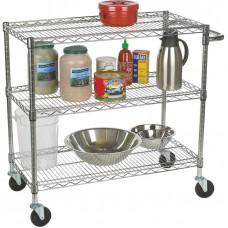TRINITY® EcoStorage® 3-Tier Chrome Cart #TBFC0902