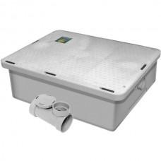 """Endura® Lo-Pro 23kg\ 50 lb. 95l\min\25 GPM Low Profile Grease Trap with 2"""" Hub #3925A02LO"""