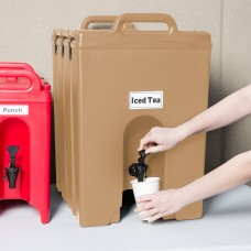 Cambro Camtainer® Hot Coffee Beige Insulated Beverage Dispenser, 44 Lit\11.75gal #1000LCD157