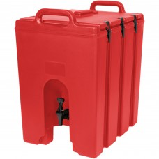 Cambro Camtainer® Hot Red Insulated Beverage Dispenser, 44 Lit\11.75gal #1000LCD158