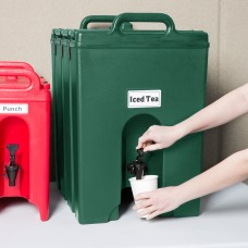 Cambro Camtainer® Kentucky Green Insulated Beverage Dispenser, 44 Lit\11.75gal #1000LCD519